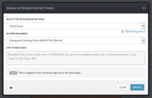 Click Funnels E-Mail Integration von eigenem HTML