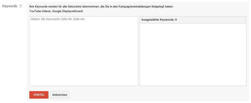 youtube-videokampagne-keywords-targeting